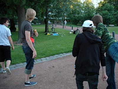Kirapudassa kavereiden kanssa kesällä '08