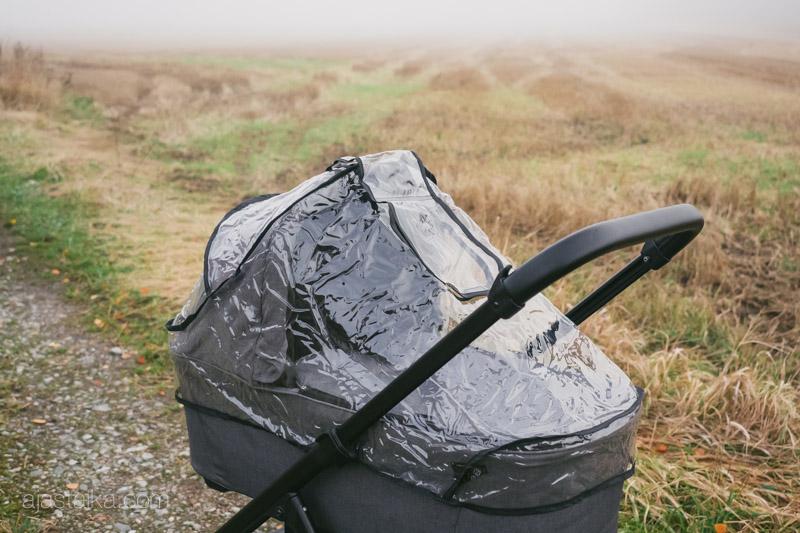 Moseyn kopan oma läpinäkyvä sadesuoja