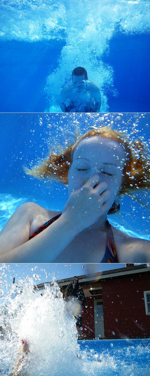 Kotikotona uima-altaalla