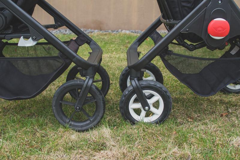Moseyn vaahtotäytteiset renkaat vs. Minien ilmakumit